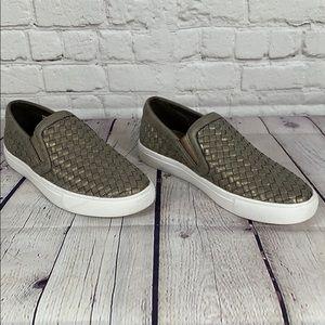 Corkys Powder Gold Slip-On Sneaker Loafer Size 8